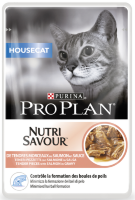 Pro Plan House Cat (кусочки в соусе для домашних кошек с лососем)