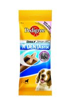 Pedigree Denta Stix лакомство по уходу за зубами для собак средних пород весом от 10 до 25 кг